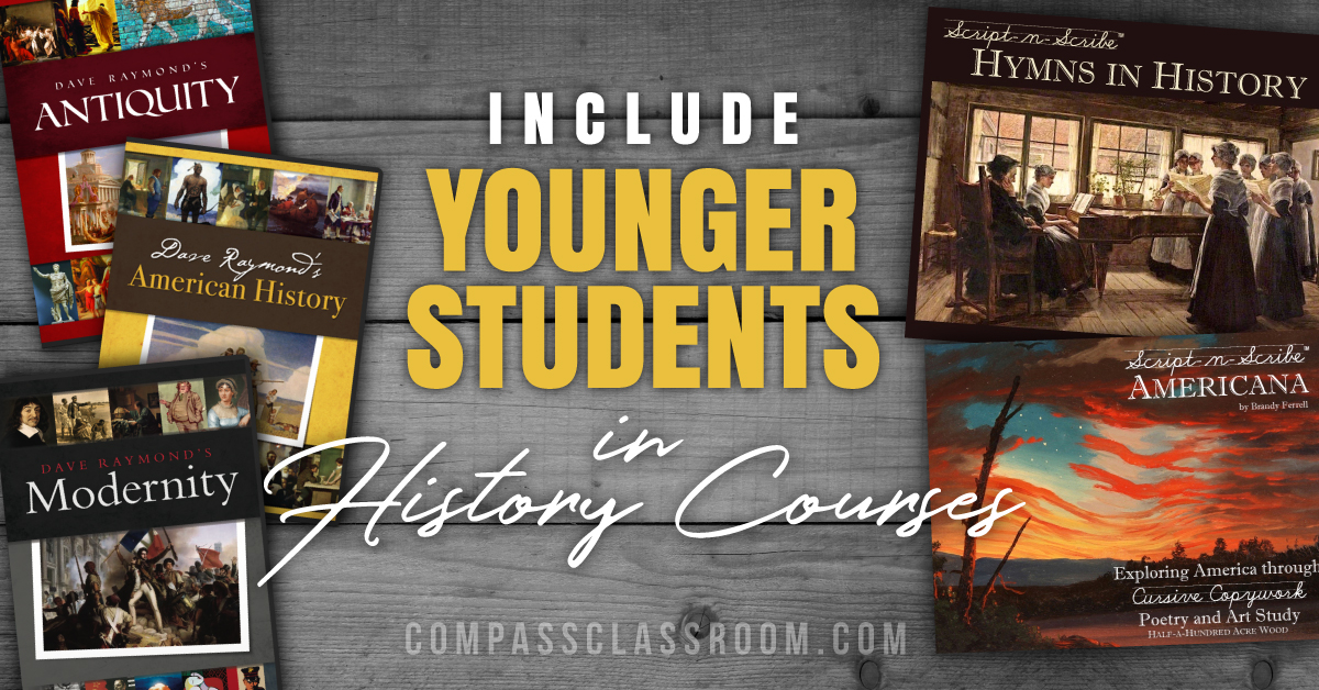 include younger students in history courses