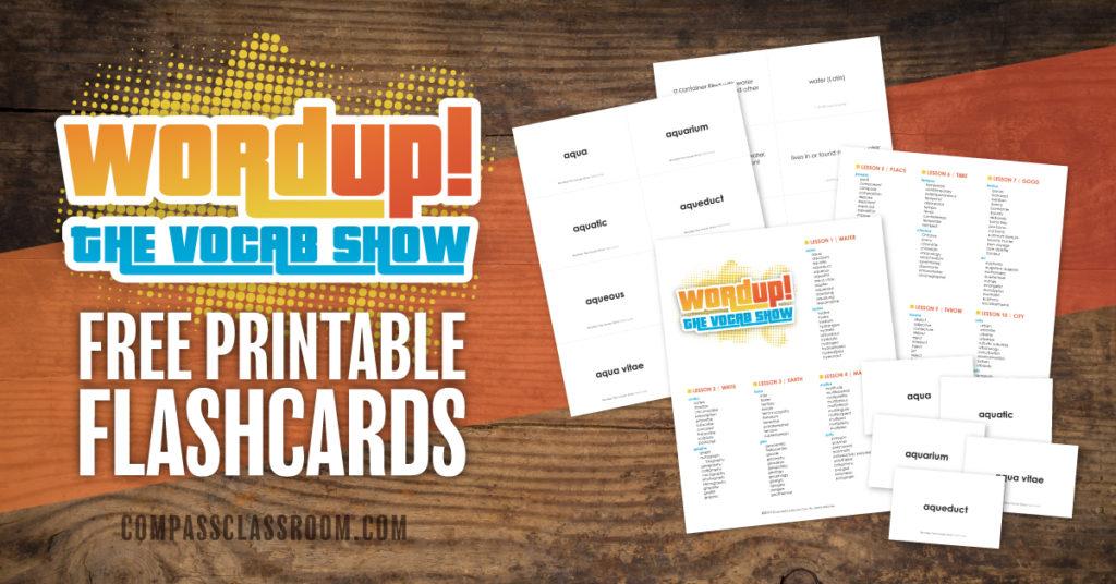 free wordup flash cards