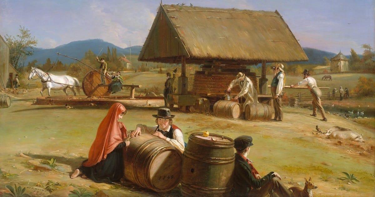 William Sidney Mount cider making