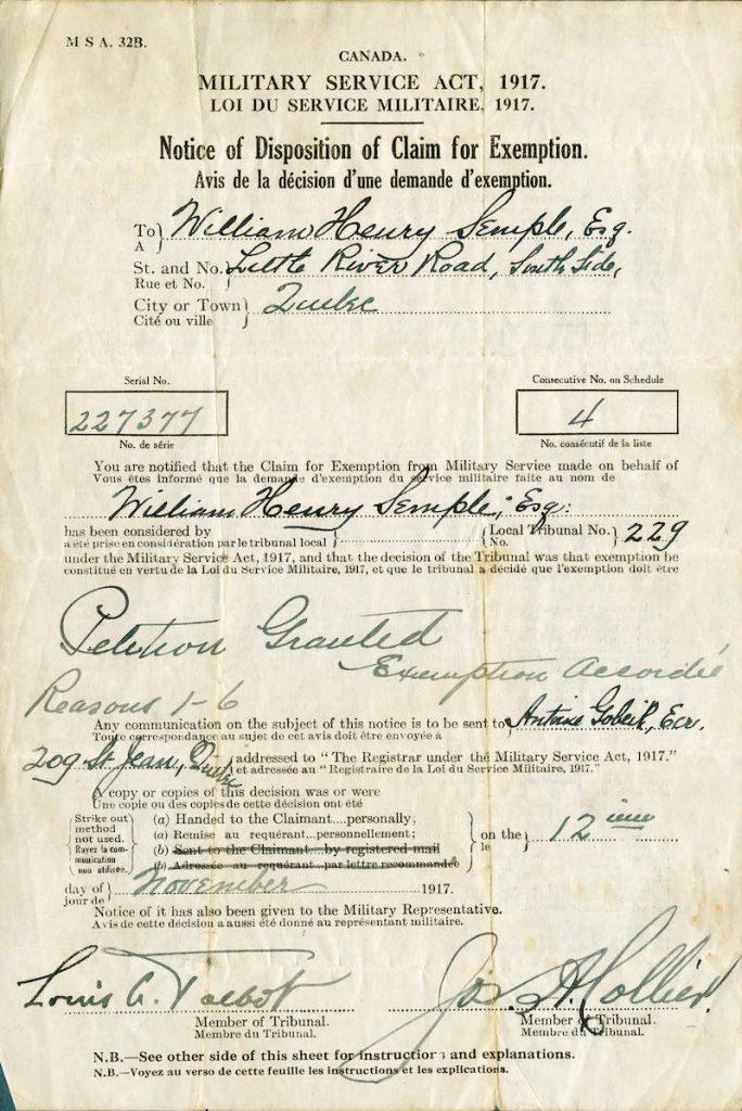 WWI document