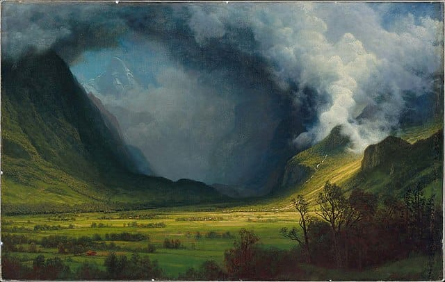 Bierstadt Storm in the Mountains