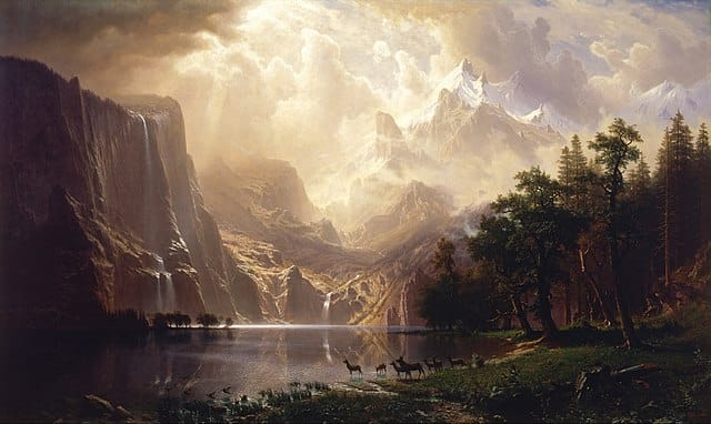 Bierstadt Among the Sierra Nevada