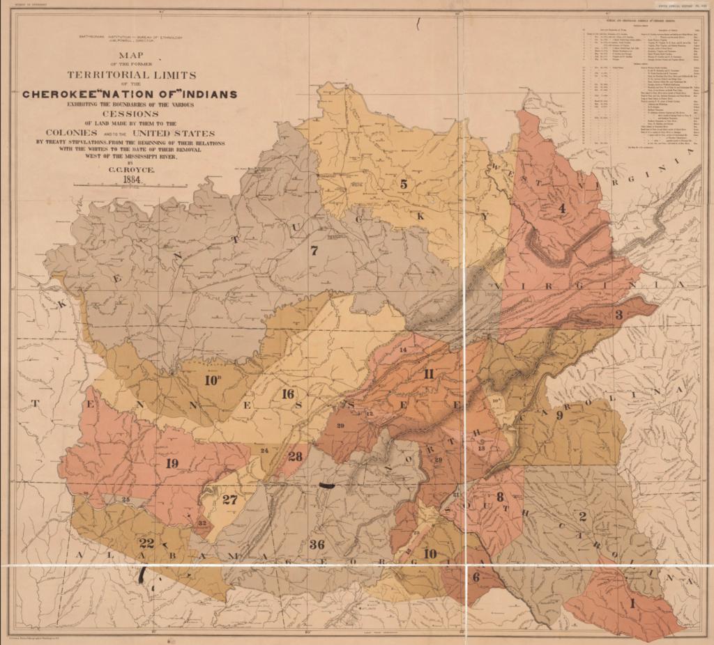 Cherokee Nation gives up land