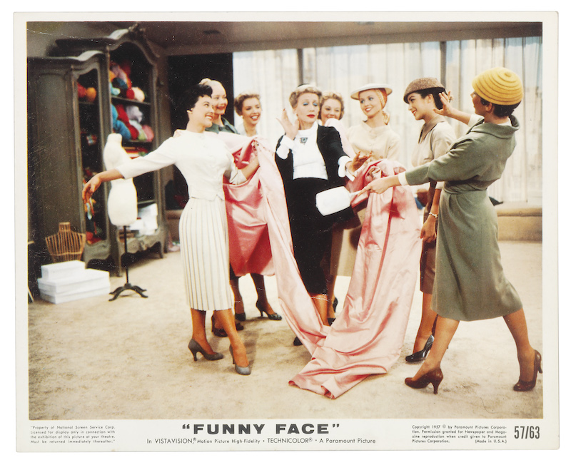 promotional poster for Funny Face; 7 women standing together smiling
